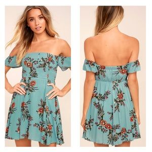 Lulu's Blue Floral Dress